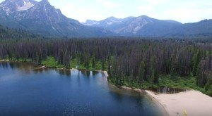 What This Drone Footage Caught In Idaho Will Drop Your Jaw