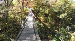 This Terrifying Swinging Bridge In Iowa Will Make Your Stomach Drop