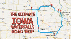 The Best Waterfall Road Trip In Iowa Takes You To Eight Cascades