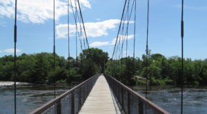 This Pedestrian Swinging Bridge In Maine Is A Thrilling Adventure