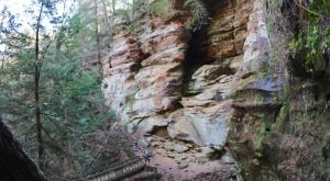 Hiking To This Aboveground Cave In Ohio Will Give You A Surreal Experience