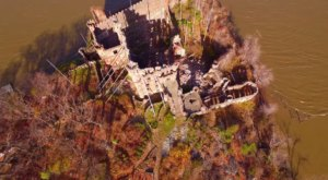 What This Drone Footage Captured At This Abandoned New York Castle Is Truly Grim