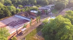 What This Drone Footage Captured At This Abandoned Georgia Factory Is Truly Grim