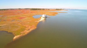 What This Drone Footage Captured At This Abandoned Maryland Fishing Community Is Truly Grim
