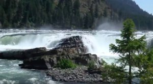 This Footage Shows Off The Spectacular Natural Beauty Of Kootenai Falls In Montana