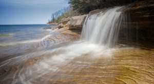 8 Unbelievable Michigan Waterfalls Hiding In Plain Sight… No Hiking Required