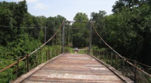 There's Something Incredibly Unique About This One Swinging Bridge In Mississippi