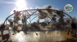 This Footage Of A Bridge Demolition In Oklahoma Will Blow Your Mind