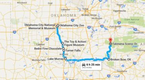 8 Amazing Places You Can Go On One Tank Of Gas In Oklahoma
