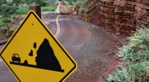 A Rock The Size Of A House Just Destroyed The Road To Zion National Park