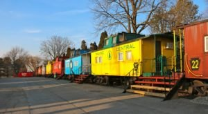 A Train Restaurant In Pennsylvania, Red Caboose Is A Fun And Unique Place To Dine