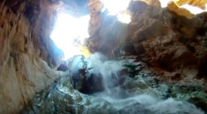 A Family Discovered A Hidden Cave And Waterfall In The Grand Canyon And It's Amazing