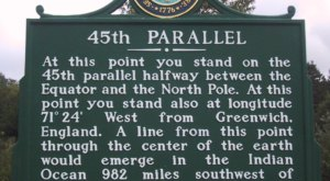 This Spot In New Hampshire is Half Way Between the North Pole and The Equator
