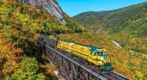 This Fall Folliage Train Will Show You The New Hampshire Colors In An Unforgettable Way