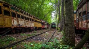 Step Inside This Eerie Graveyard In Pennsylvania Where Trains Go To Die