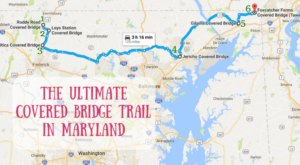 This Ultimate Covered Bridge Trail In Maryland Is Everything You've Ever Dreamed Of