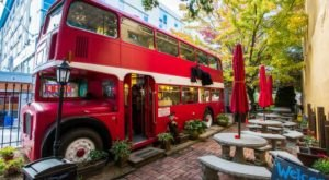This Coffee Shop In North Carolina Used To Be A Double Decker Bus And You'll Want To Visit