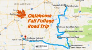 Take This Gorgeous Fall Foliage Road Trip To See Oklahoma Like Never Before