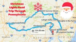The Christmas Lights Road Trip Through Pennsylvania That Will Take You To 10 Magical Displays