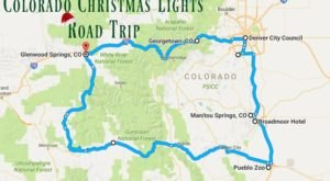 The Christmas Lights Road Trip Through Colorado That's Nothing Short Of Magical