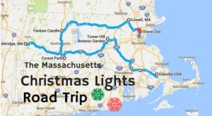 The Christmas Lights Road Trip Through Massachusetts That Will Take You To 8 Magical Displays