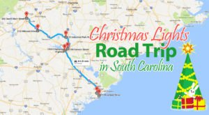 The Christmas Lights Road Trip Through South Carolina That Will Take You To 7 Magical Destinations