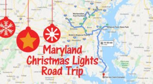 The Christmas Lights Road Trip Through Maryland That Will Take You To 7 Magical Displays