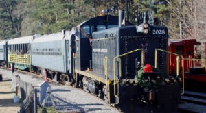 Enjoy The Magical Santa Express Train Ride Aboard A Train At The South Carolina Railroad Museum