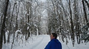 The Easy 1-Mile Winter Hike In Michigan That's Positively Bewitching