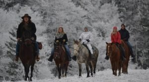 The Winter Horseback Riding Trail In West Virginia That's Pure Magic