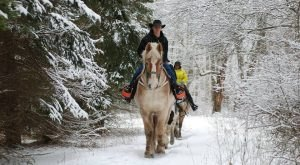 The Winter Horseback Riding Trail In Pennsylvania That's Pure Magic