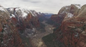 A Drone Flew Over Angel's Landing In Utah And Captured Mesmerizing Footage