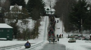 Take A Thrilling Ride At Eagles Mere Toboggan In Pennsylvania This Winter