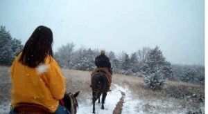 The Winter Horseback Riding Trail In Oklahoma That's Pure Magic