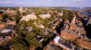 A Drone Flew Over The Capital City Of Rhode Island And Captured Mesmerizing Footage