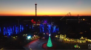 A Drone Flew Over Six Flags In New Jersey And Captured Mesmerizing Footage