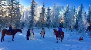 The Winter Horseback Riding Adventure In Alaska That's Pure Magic