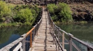 The Terrifying Swinging Bridge In Idaho That Will Make Your Stomach Drop
