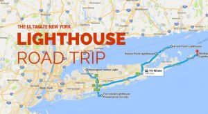 The Lighthouse Road Trip On The New York Coast That's Dreamily Beautiful