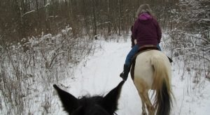 The Winter Horseback Riding Trail In Indiana That's Pure Magic