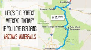 Here's The Perfect Weekend Itinerary If You Love Exploring Arizona's Waterfalls