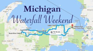 Here's The Perfect Weekend Itinerary If You Love Exploring Michigan's Waterfalls