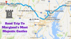This Road Trip To Maryland's Most Majestic Castles Is Like Something From A Fairytale