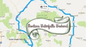 Here's The Perfect Weekend Itinerary If You Love Exploring Montana's Waterfalls