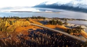 A Drone Flew High Above Alaska's Turnagain Arm And Captured Something Truly Stunning