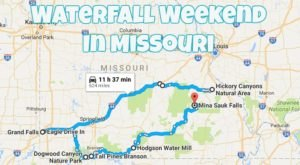 Here's The Perfect Weekend Itinerary If You Love Exploring Missouri's Waterfalls