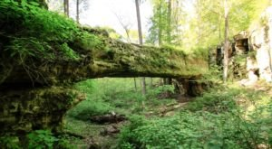 This Incredible Bridge Hidden In An Illinois Forest Isn't What You Expect