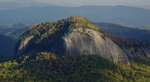 One Of The Oddest Geological Wonders, Looking Glass Rock, Is Located Right Here In North Carolina