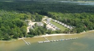The Lakefront Resort In Michigan That Feels Like Its Own Tiny Town