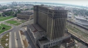 What This Drone Footage Captured At This Abandoned Detroit Train Station Is Truly Grim